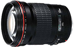 Canon EF135mm f/2L USM telephoto lens