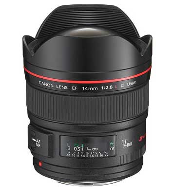 Canon EF14mm f/2.8L II USM wide angle lens