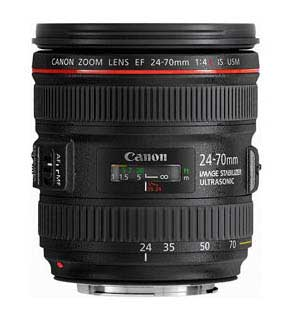 Canon EF 24-70mm f/4L IS USM standard zoom lens