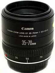 Canon EF35-70mm f/3.5-4.5A standard zoom lens