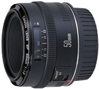 Canon EF50mm f/1.8 standard telephoto lens
