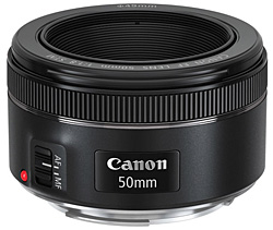 Canon EF 50mm f/1.8 STM telephoto lens