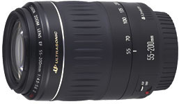 Canon EF55-200mm f/4.5-5.6 USM telephoto zoom lens