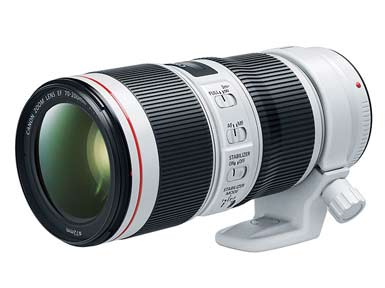 EF 70-200mm f/4L IS II USM telephoto zoom lens