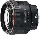 Canon EF 85mm f/1.2L USM medium telephoto lens