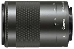 Canon EF-M 55-200mm f/4.5-6.3 IS STM compact zoom lens