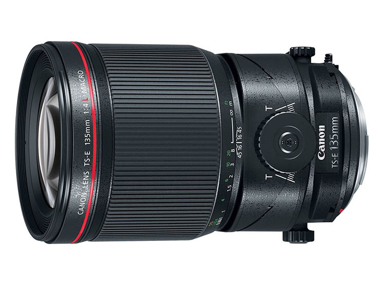 TS-E135mm f/4L macro tilt/shift lens